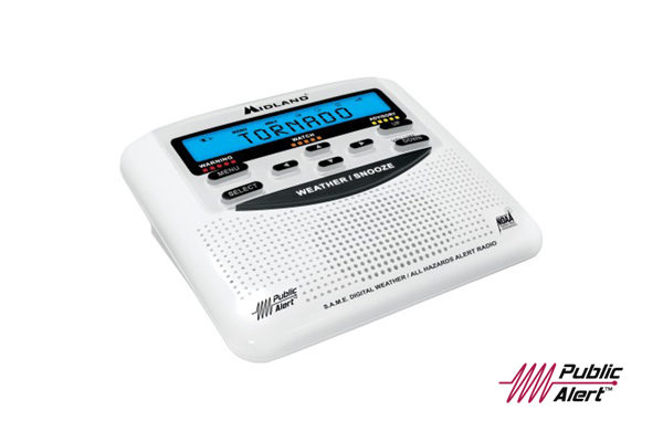 Image of a weather radio